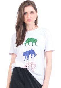 Camiseta Tri Cheetah 41Onze Branco - Kanui