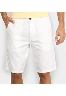 Bermuda Jab Linho Masculina - Masculino-Branco