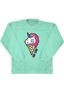 Camiseta Manga Longa Comfy Feminina - Feminino-Verde