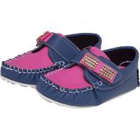 740f53c89b Dafiti. Mocassim Tricae Strass Infantil Azul Rosa