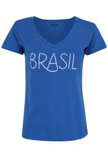 3887a7c5110 Camiseta Do Brasil Fan 2018 Adams - Feminina - Azul