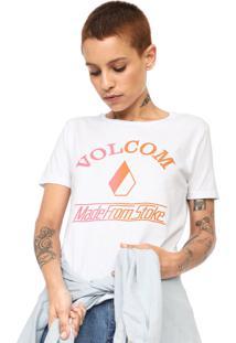 Camiseta Volcom Made From Stoke Branca