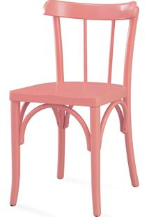 Cadeira De Jantar Justine Laca Rosa Coral - 43X47,5X78,5 Cm