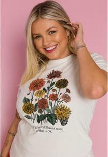 Camiseta Sislla Nature Feminina - Feminino-Areia