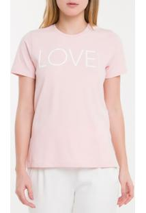 Camiseta Baby Look New Year Love - Rosa Claro - Pp