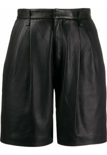 Redvalentino Short Cintura Alta - Preto