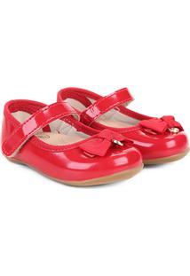 Sapato Infantil Klin Cravinho Princess Menina - Feminino-Vermelho