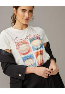 Amaro Feminino T-Shirt Sparkling Millennials, Off-White