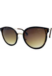 Óculos De Sol Fashion Acetato Garnet Tartaruga Feminino - Feminino-Marrom 221ff28769