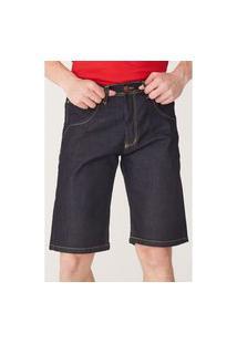 Bermuda Hd Jeans Azul Escuro