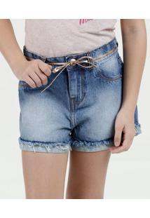 Short Infantil Jeans Cintinho Marisa