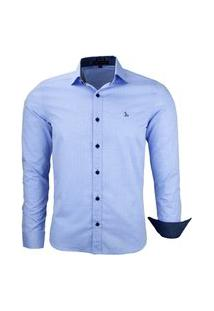 Camisa Amil Ferreti Manga Longa Slim Azul Bebê