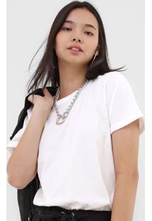 Camiseta Colcci Logo Off-White - Kanui