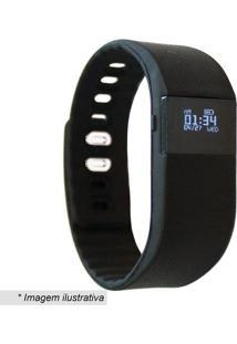 Pulseira Smart- Preta- 9X7,5X7,5Cm- Bluetooth