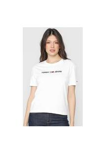 Camiseta Tommy Jeans Logo Branca