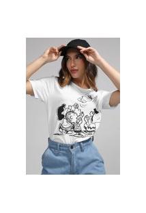 Camiseta Snoopy By Fiveblu Estampada Branca