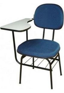 Cadeira Universitária Pethiflex Mq09 C/ Porta Livros Tecido Azul