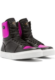 Sneaker K3 Fitness Colorful Preto/Rosa