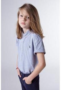 Camisa Masculina Infantil Mini Oxford Mc Reserva Mini - Masculino-Marinho