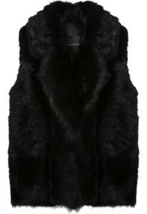 Blancha Oversized Sleeveless Jacket - Preto