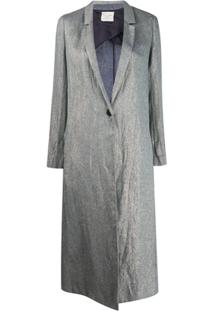 Forte Forte Single Buttoned Long Coat - Azul