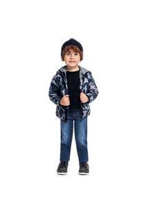 Jaqueta Kyly Infantil Militar Azul