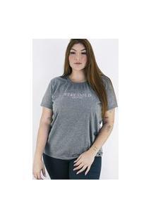 Camiseta Anjuss Plus Size Cinza