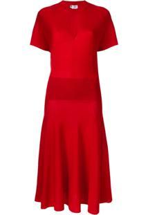 Lanvin Vestido De Tricô - Vermelho