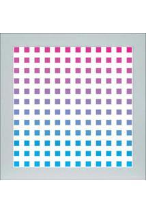 Quadro 65891 Abstrato 33X33 Cm Branco