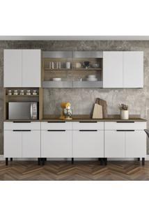 Cozinha Compacta Itamaxi 12 Pt 4 Gv Branca E Castanho