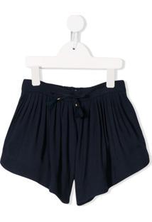 Chloé Kids Short Com Pregas - Azul