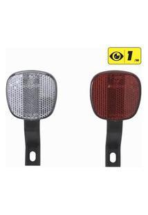 Refletores Dianteiro E Traseiro Para Bicicletas - Front/Rear Frame Reflectors, .