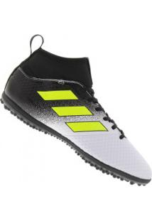 941633af5bba3 Chuteira Society Adidas Ace 17.3 Primemesh Tf - Adulto - Branco Preto