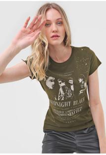 Camiseta Colcci Midnight Black Verde