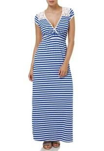 Vestido Longo Feminino Azul