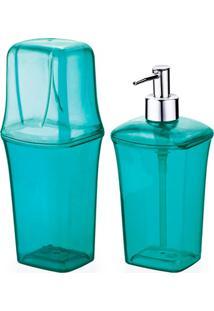 Conjunto Para Banheiro Com 2 Peças Azul Tiffany