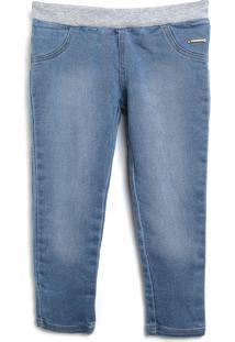 Calça Jeans Colorittá Infantil Lisa Azul - Tricae