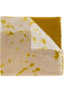 Suzusan Cachecol Tie-Dye De Cashmere - Amarelo