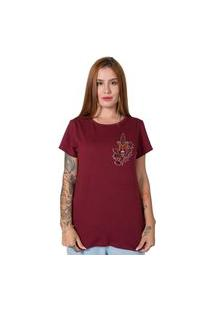 Camiseta Knife Butterfly Bordô