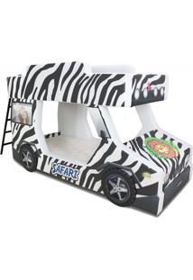 Beliche Cama Carro Do Brasil Adventure - Branco - Menino - Dafiti
