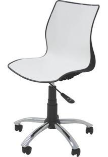 Cadeira Maja Com Rodizio Cor Preto C/ Branco - 19606 Sun House