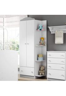 Guarda Roupa De Bebê 2 Portas 1 Gaveta Confete Plus Multimóveis Flex Color Branco Polar/Colorido Premium
