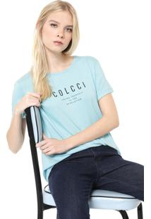 Camiseta Colcci Loving Yourself Azul