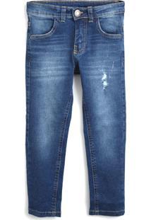 Calça Jeans Milon Infantil Lisa Azul-Marinho