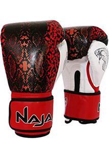 8e6af6575e Luva De Boxe Animal Print Cobra Vermelha - Naja - 12 Oz