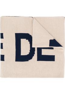 Drôle De Monsieur Cachecol Oversized Com Logo - Neutro