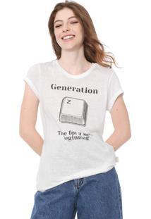 Camiseta Coca-Cola Jeans Generation Branca