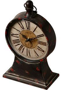 Relógio De Mesa Decorativo Classic De Metal