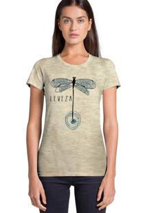 Camiseta Feminina Joss Estampada Flamê Leveza Bege