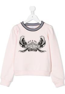 Givenchy Kids Moletom Com Estampa De Logo - Rosa